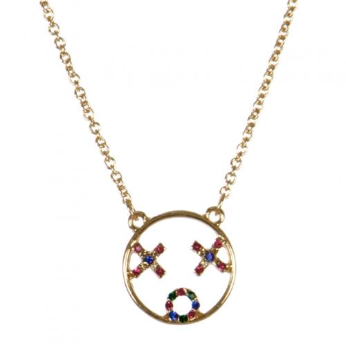 wholesale XOX emoji pendant necklace GDMT fashionunic