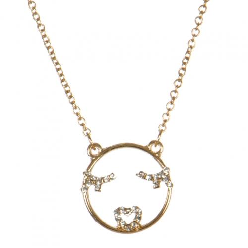 wholesale Flirty emoji pendant necklace GDCR fashionunic