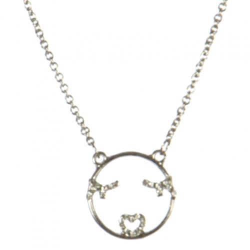 wholesale Flirty emoji pendant necklace RHCR fashionunic