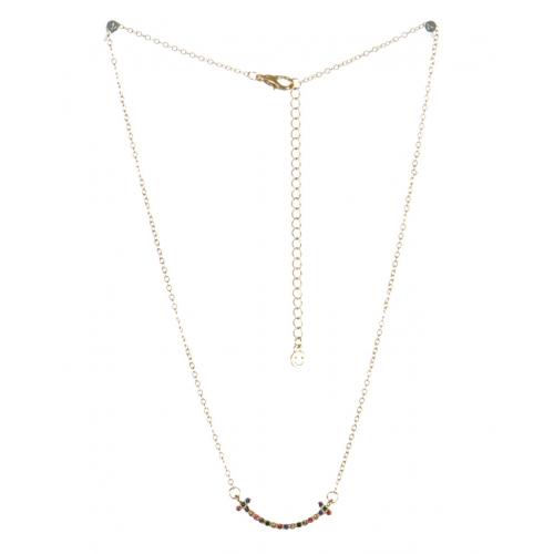 wholesale Studded smile pendant necklace GDMT fashionunic