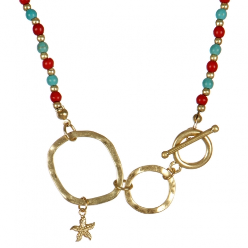 wholesale Star studs on loops necklace set MLT fashionunic