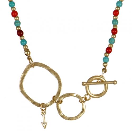 wholesale Arrow studs on loops necklace set MLT fashionunic