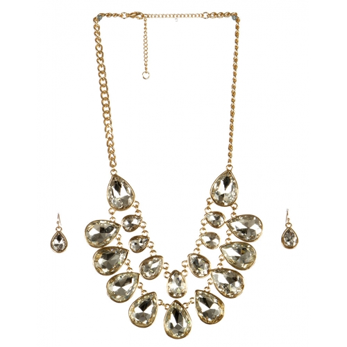wholesale Stone drop necklace set GDCR fashionunic