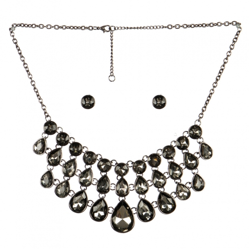 wholesale Layered stone drop necklace set BNBD fashionunic