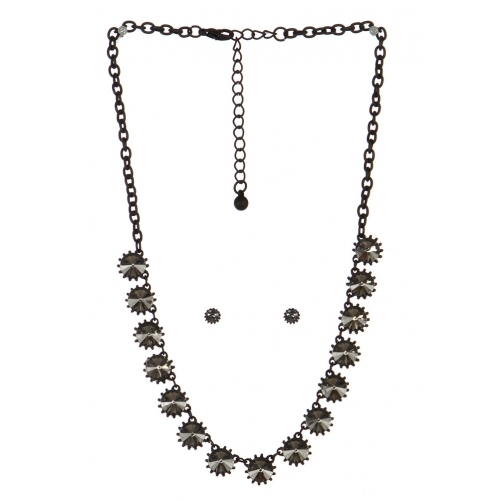 wholesale Spiked stone necklace set BKBD fashionunic