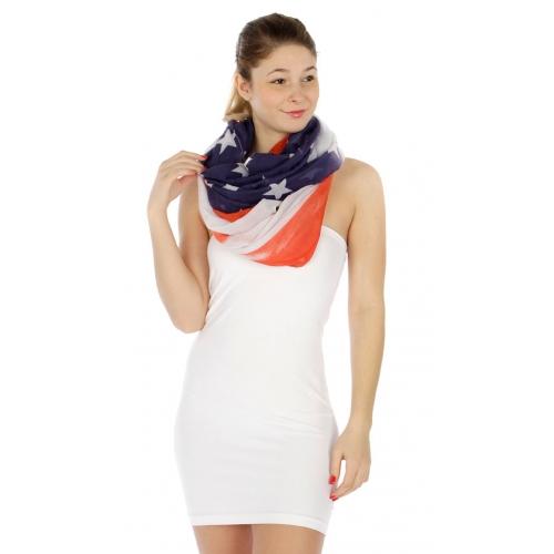wholesale American flag infinity scarf FL fashionunic