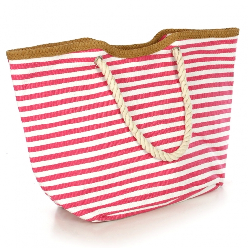 wholesale Two tone striped tote bag Black fashionunic