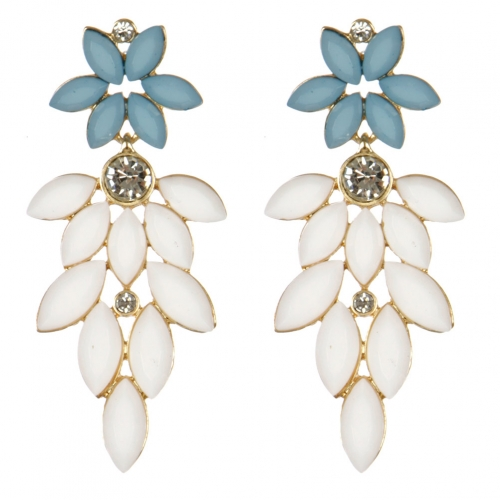 wholesale Cluttered stone dangling earrings TQ fashionunic