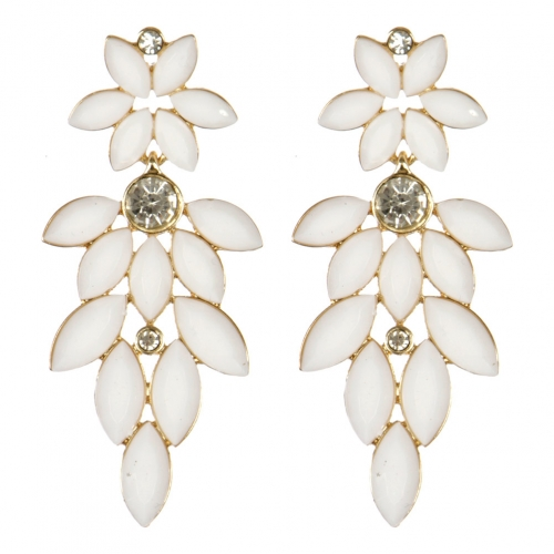 wholesale Cluttered stone dangling earrings WH fashionunic