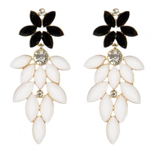 wholesale Cluttered stone dangling earrings BK fashionunic