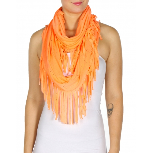 wholesale Specks on fringed infinity scarf LM fashionunic