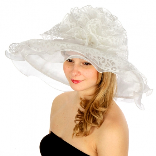 wholesale Cheetah print swirl dress hat WH fashionunic