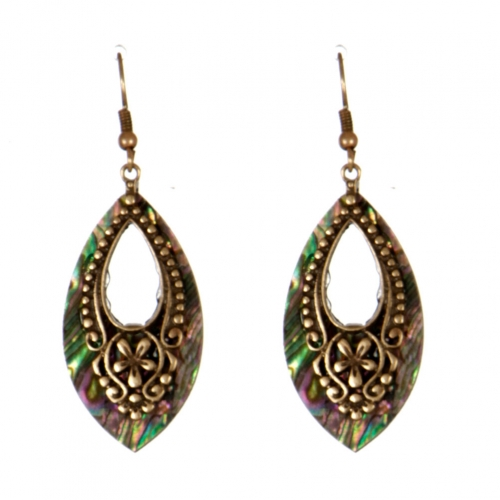 Wholesale L31C Eye drop cutout earring RGB