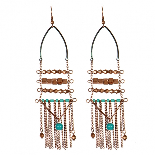 Wholesale L31C Beaded tassel earrings OG