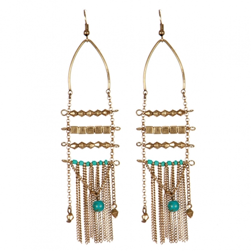 Wholesale L31C Beaded tassel earrings RGB