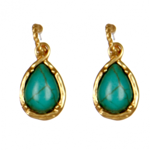Wholesale M08D Faux jade earrings G Teardrop
