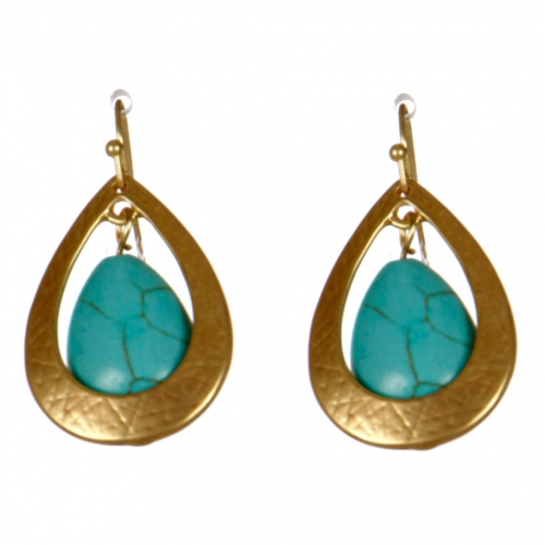 Wholesale M08D Teardrop earrings G