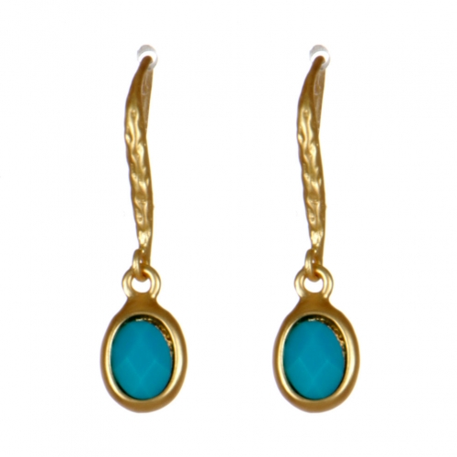 Wholesale M08D Stone drop earrings G