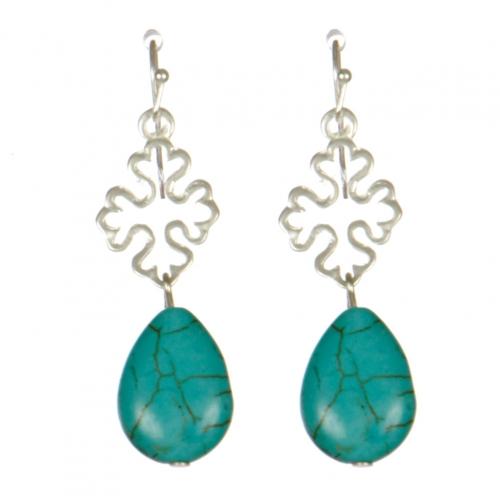 Wholesale M08D Quatrefoil drop earrings S