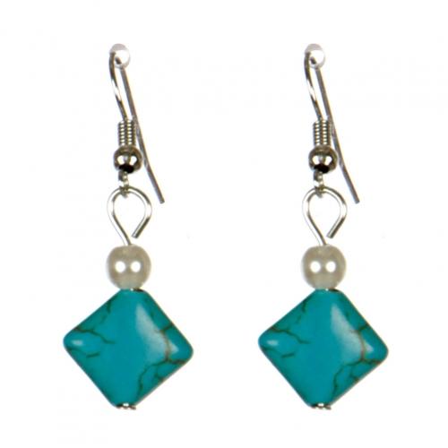 Wholesale M08E Square stone earrings S