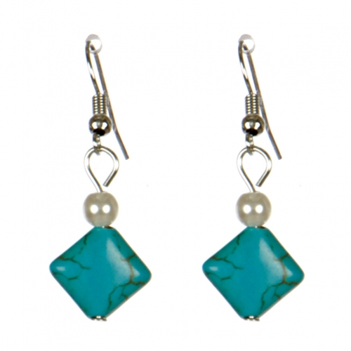 Wholesale M08E Square stone earrings S