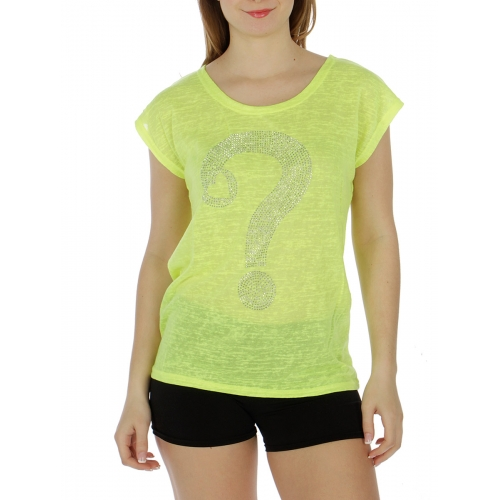 Wholesale M25 Cotton blend question mark stud top Black