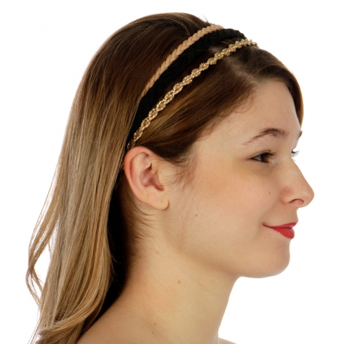 Wholesale L31A Skinny headband set 3pcs Multi cocoa