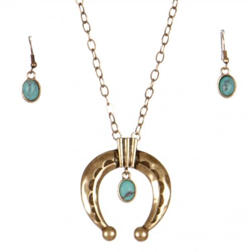 Wholesale L26C Crescent moon necklace set SB
