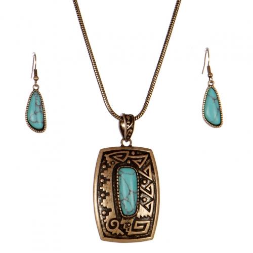 Wholesale L26E Engraved metal necklace set RGB