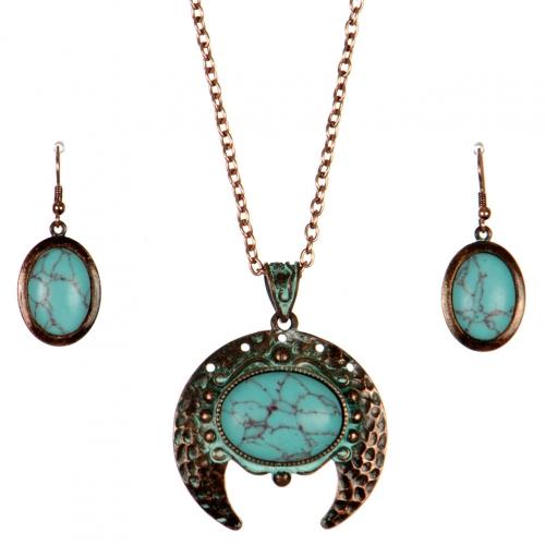 Wholesale L26E Faux jade necklace set OG