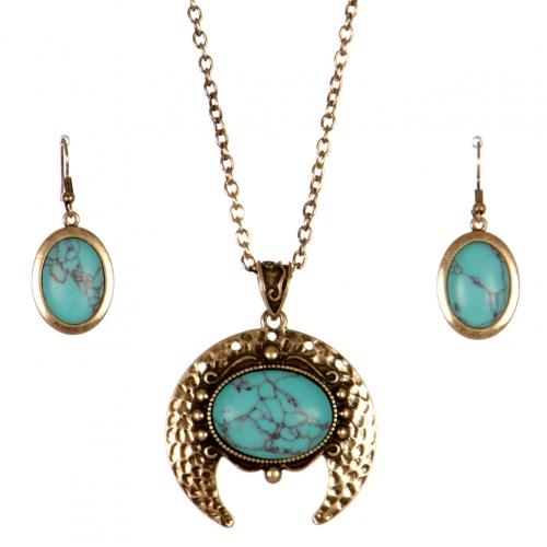 Wholesale L26E Faux jade necklace set RGB
