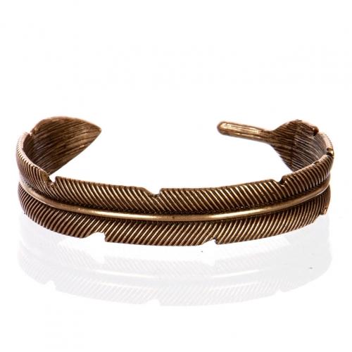 Wholesale L26A Feather plain cuff necklace RGB