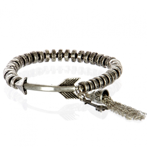 Wholesale L26A Metal arrow with tassel bracelet SB
