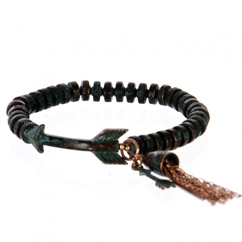 Wholesale L26A Metal arrow with tassel bracelet OG