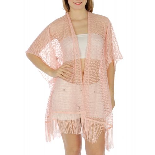 Wholesale H11 Fringed lace kimono PC