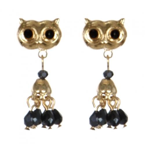 Wholesale L30C Owl earrings GD/HMT