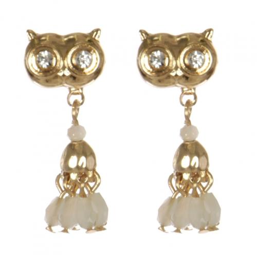 Wholesale L30C Owl earrings GD/IVY