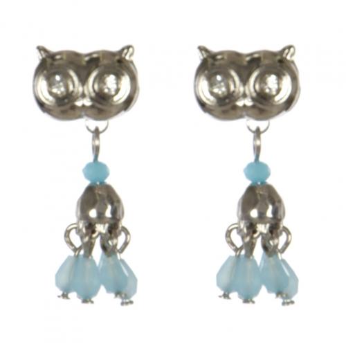 Wholesale L30C Owl earrings RH/TQS