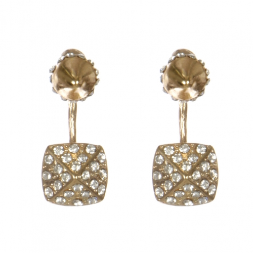 Wholesale L30C Cone front and back earrings GDCL
