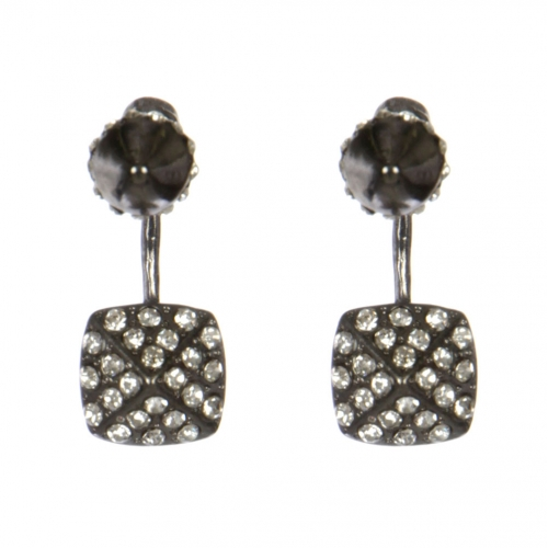 Wholesale L30C Cone front and back earrings BKCL