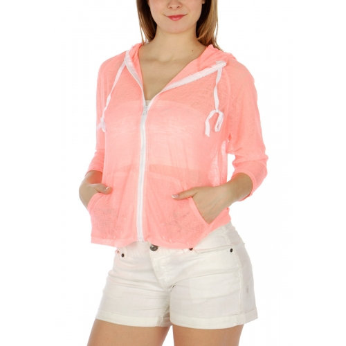 Wholesale M33 Cotton blend hooded top Lime