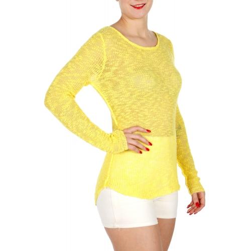 Wholesale M26 Cotton blend sheer knit top Black