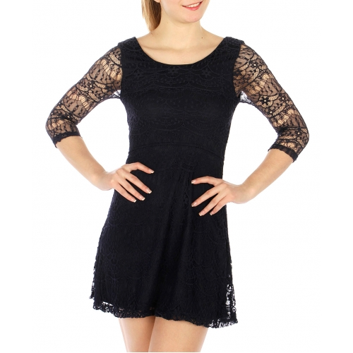 Wholesale G05 Lace layered dress Navy