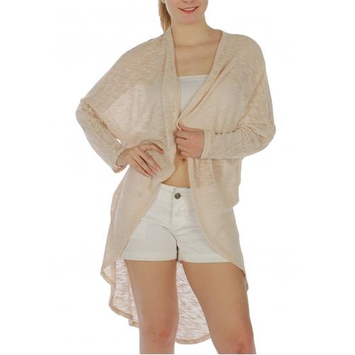 Wholesale G05 Knit long cardigan Beige