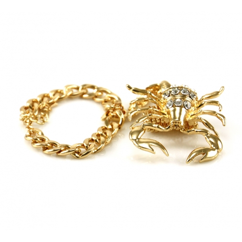 Wholesale L02C Scorpion ring to bracelet GDCLR
