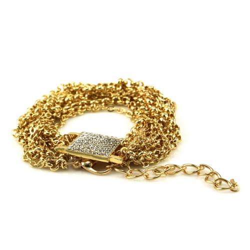 Wholesale L02C Pave square multi chain bracelet GDCLR