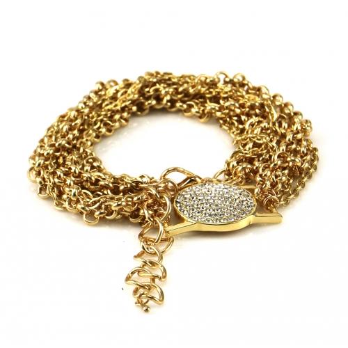 Wholesale L02C Pave circle multi chain bracelet GDCLR
