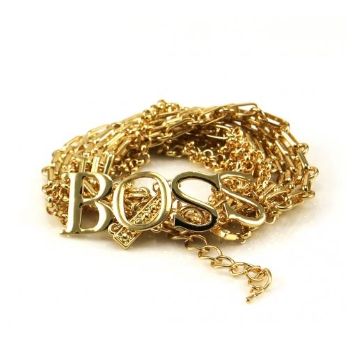 Wholesale L02C Boss metal chain bracelet GD