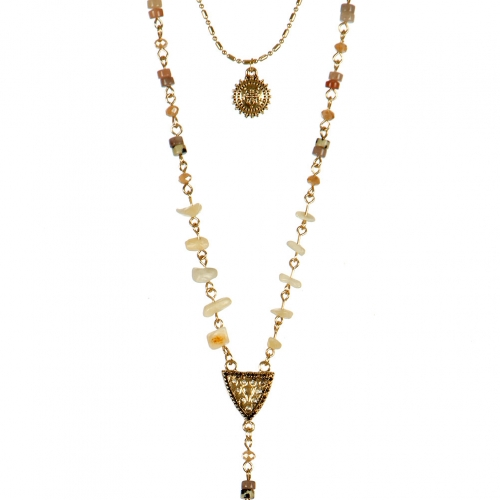 Wholesale L22D Double layered Y necklace AGMT