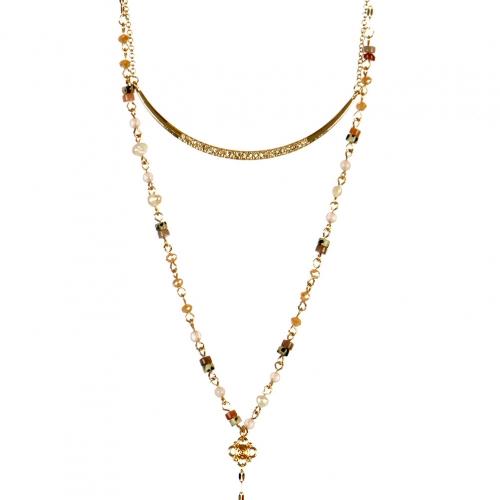 Wholesale L22D Leaf pendant necklace GMT